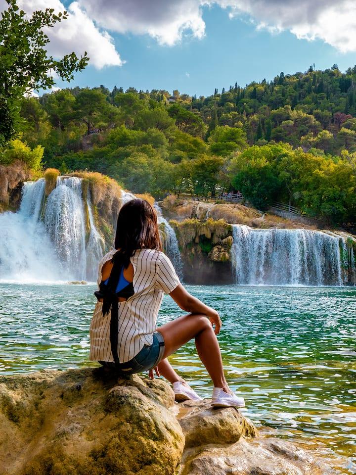 Admire the Skradinski Buk waterfalls