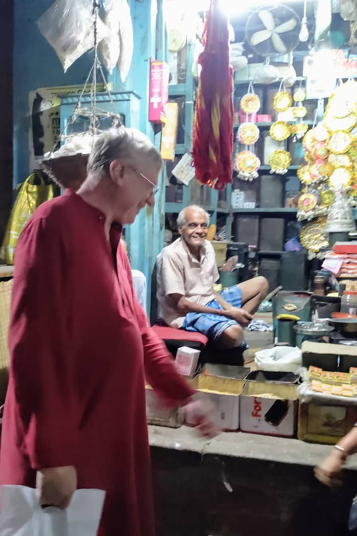 Talking to the local shopkeepers.