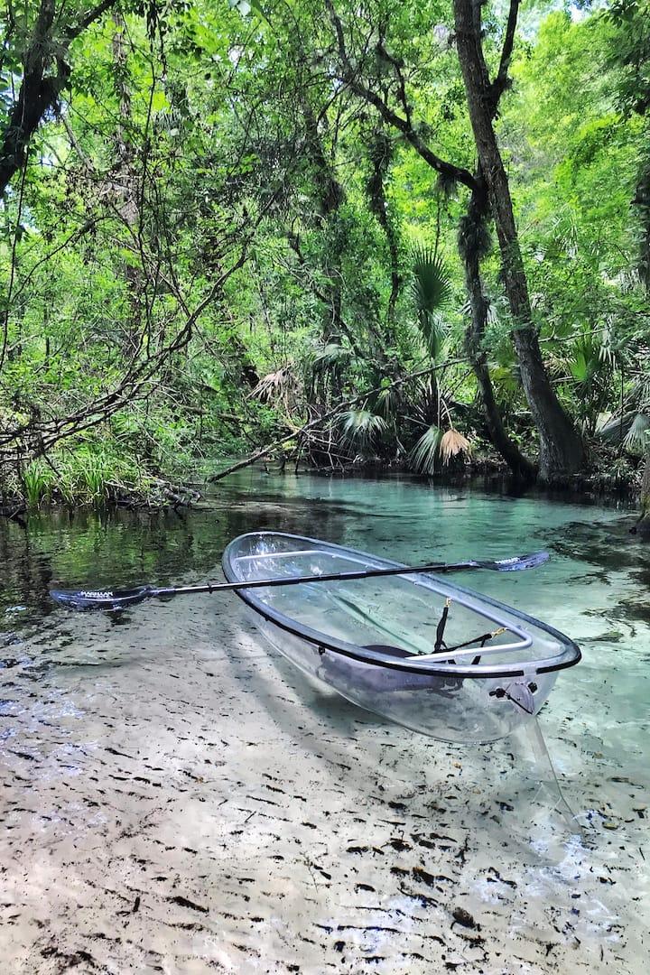 Kayaking in the Springs
