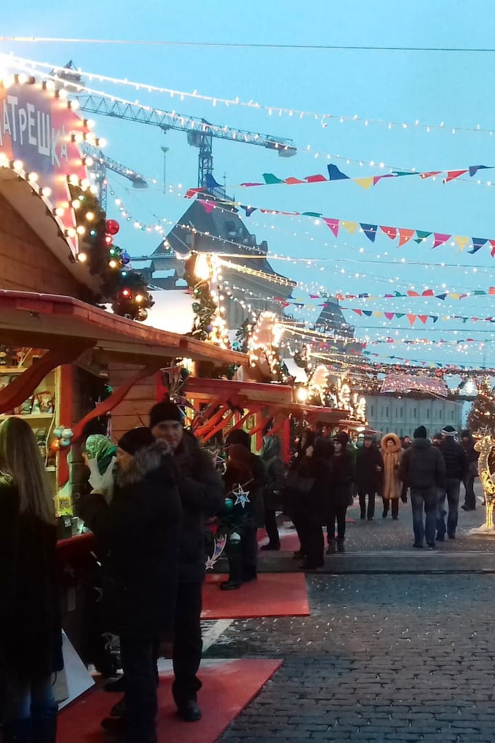 Festive Red Square and Christmas market