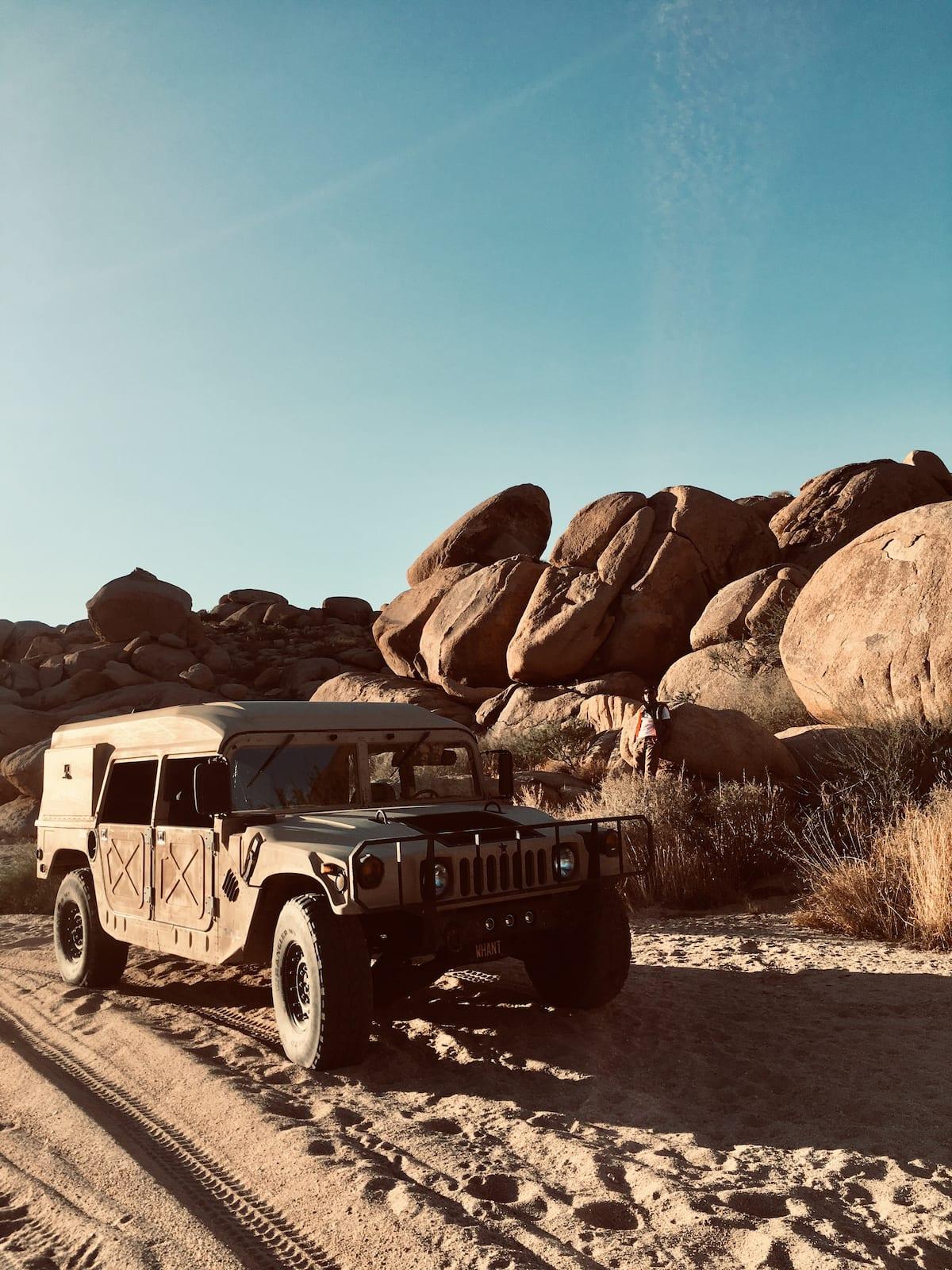Humvee in desert