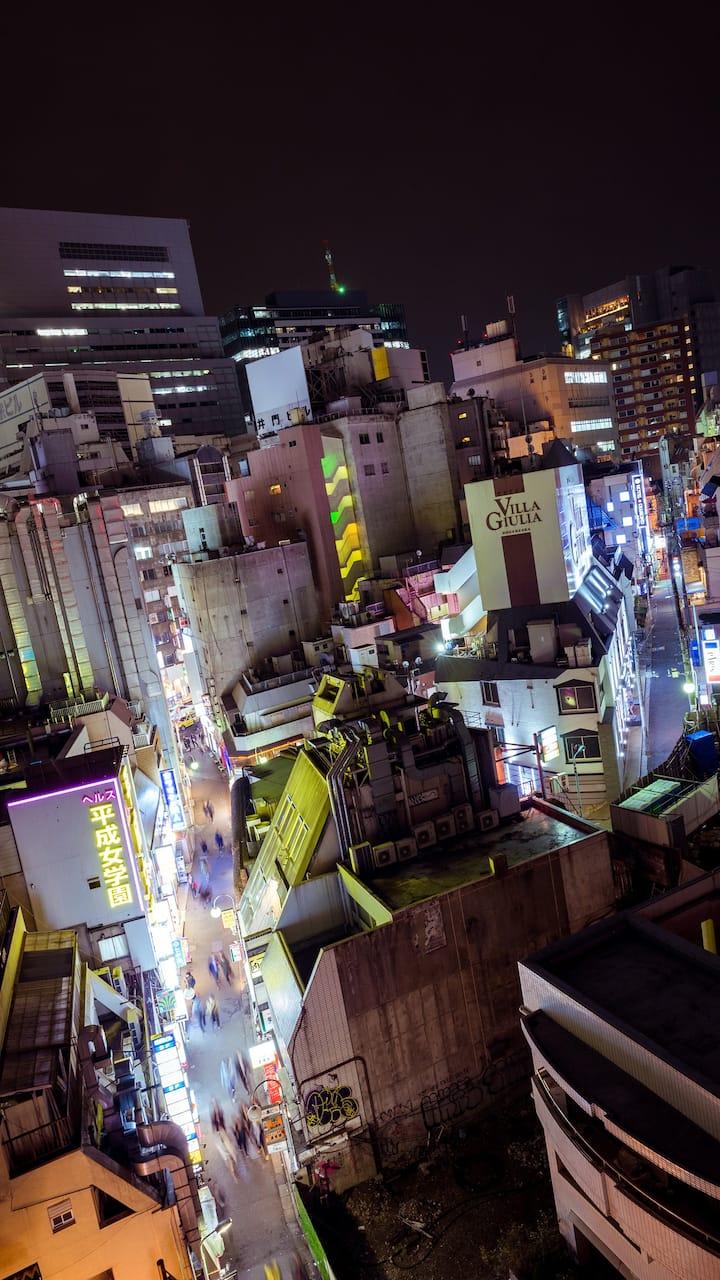 Cyberpunk views of Shibuya