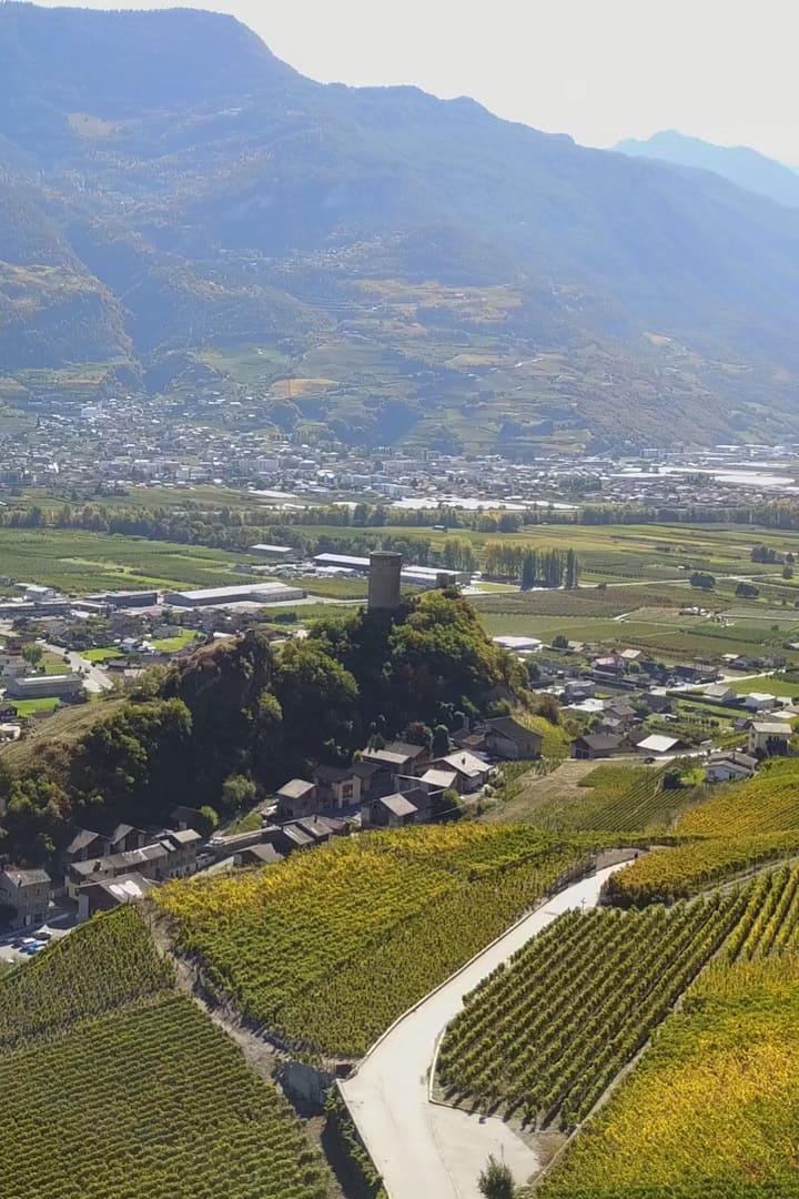Le village de Saillon et le vignoble