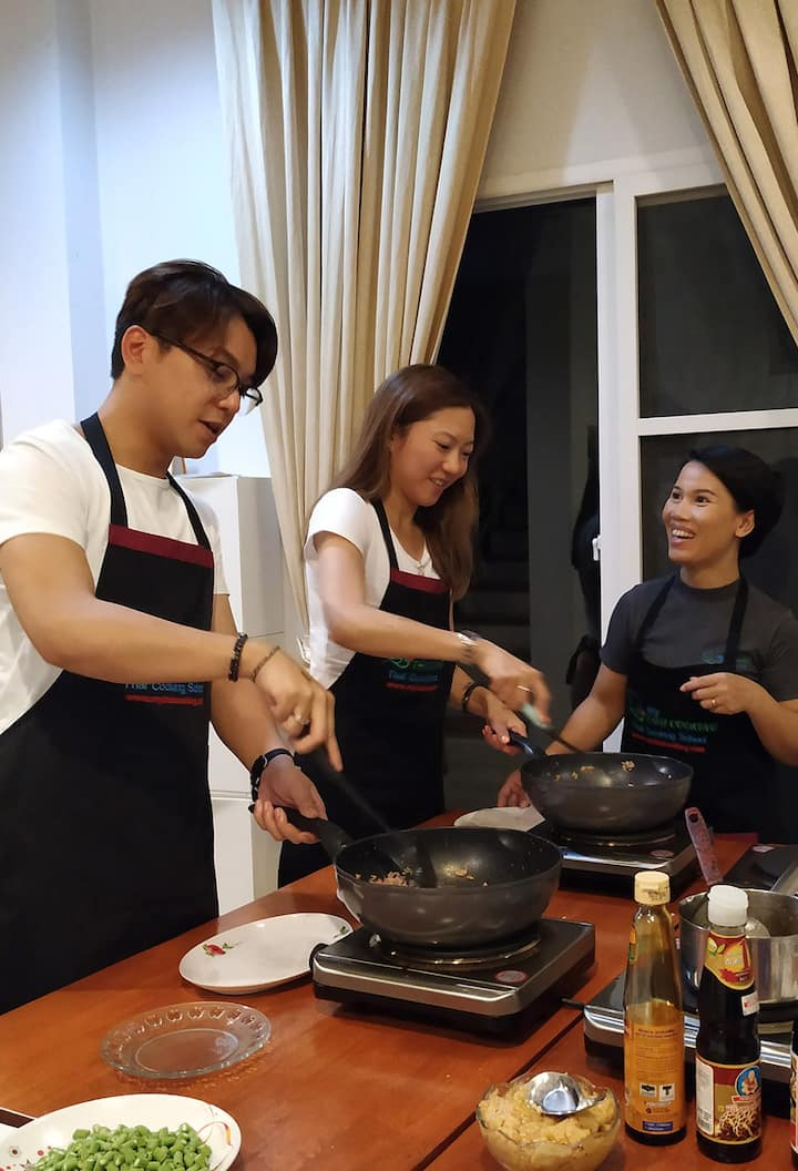 Hands-on Cooking of Authentic Thai Food
