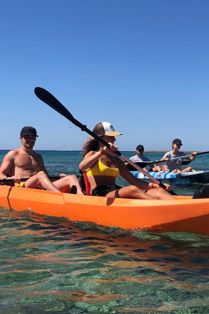 Kayak nell'Area marina Protetta