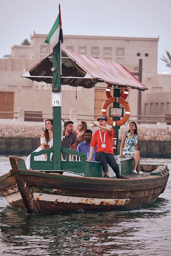 Old Dubai on a Traditional Boat