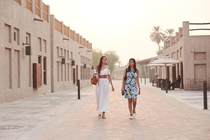 Walking down Dubai Creek in Old Dubai