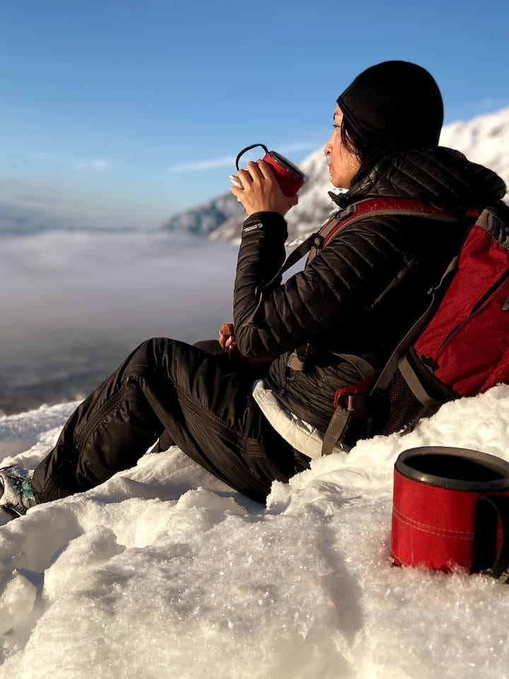 Sit above the Clouds on a Winter's day