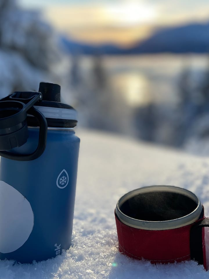 We provide hot drinks to warm up
