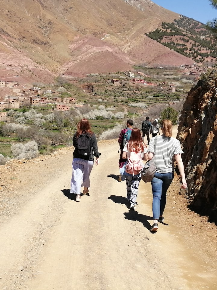 Mountain and Berber villages view