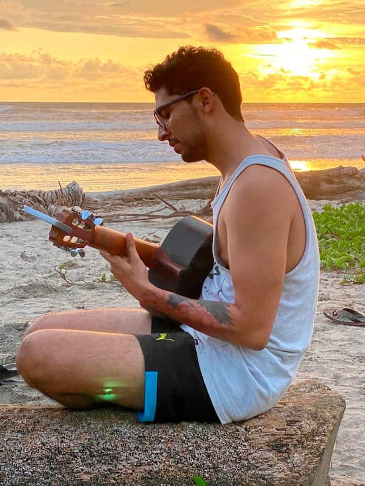 enjoying the music at the beach