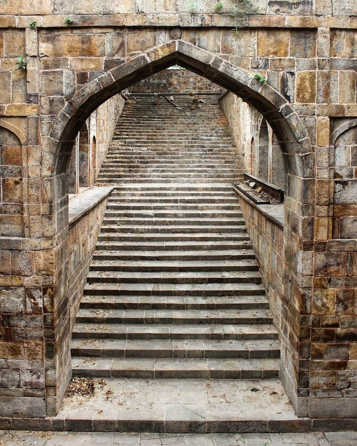 Stepwell at Red Fort, Delhi