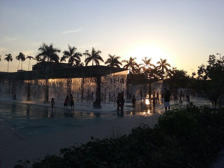 Fim de tarde no Parque Madureira