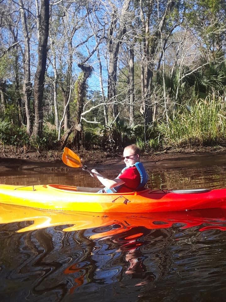 Paddling Pottsburg creek