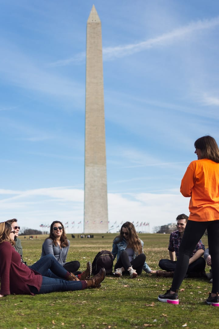 Story time at the Washington Monument