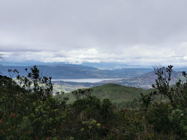 Tominé Dam view from La Cuchilla
