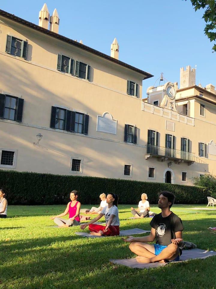 Yoga at Castello Torre in Pietra