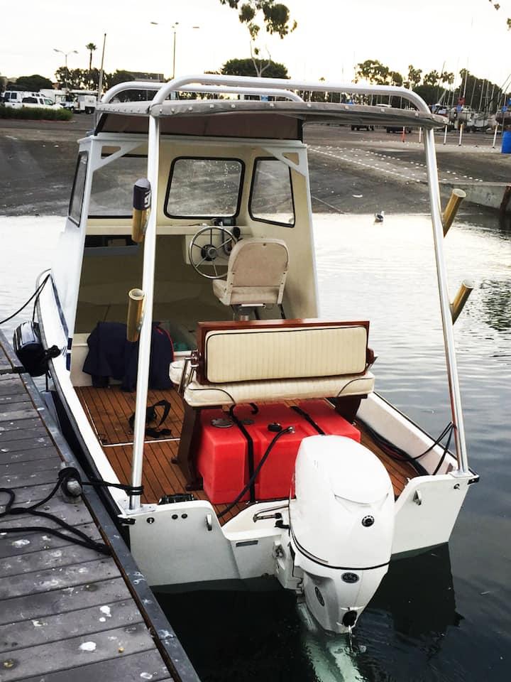 17' Custom Boston Whaler, with  seating.