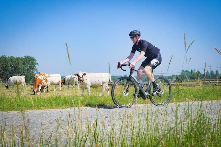 Cobbled farm roads