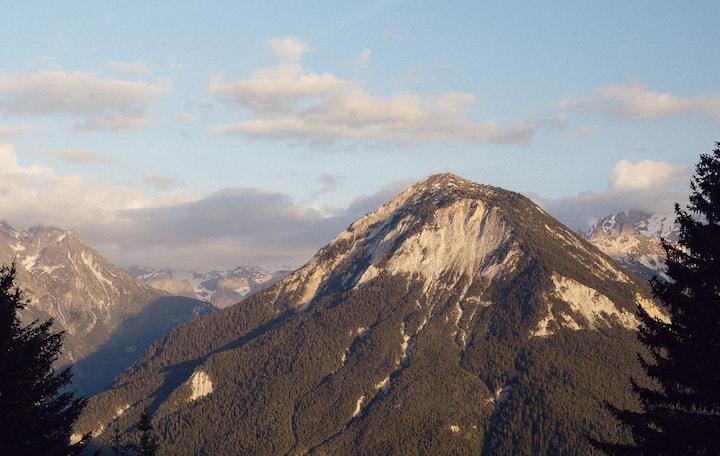 High mountain vistas