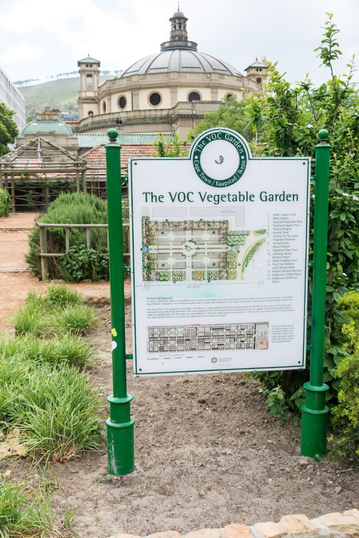 The reconstructed Company's garden.