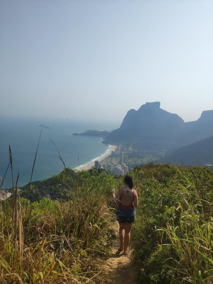 Close to the top of Dois irmãos, view tobarra