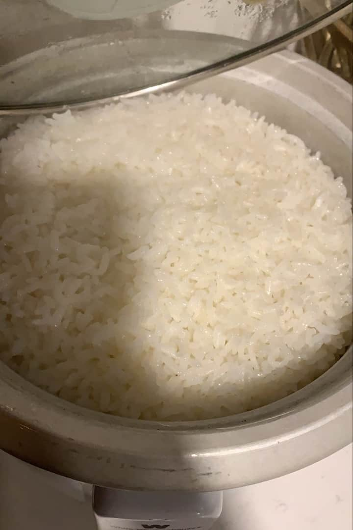 Yummy white rice.