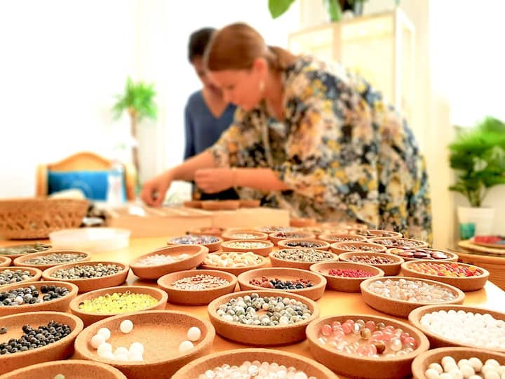 Huge variety of mineral beads