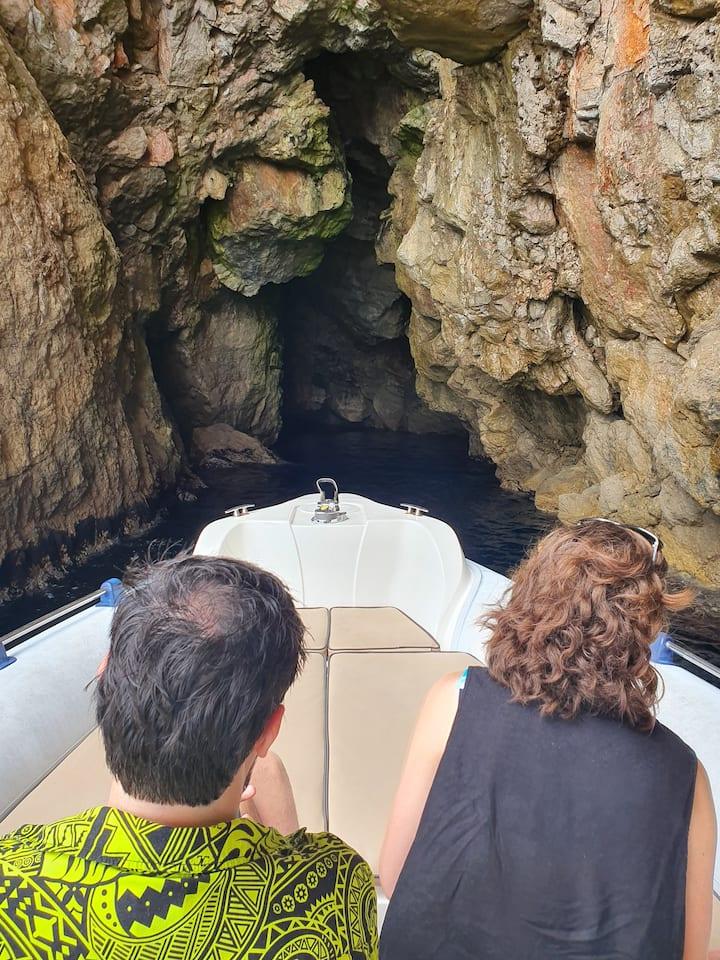 Cave on Island Kalamota