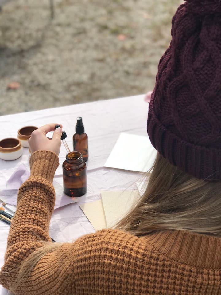 paint with your  freshly crafted inks