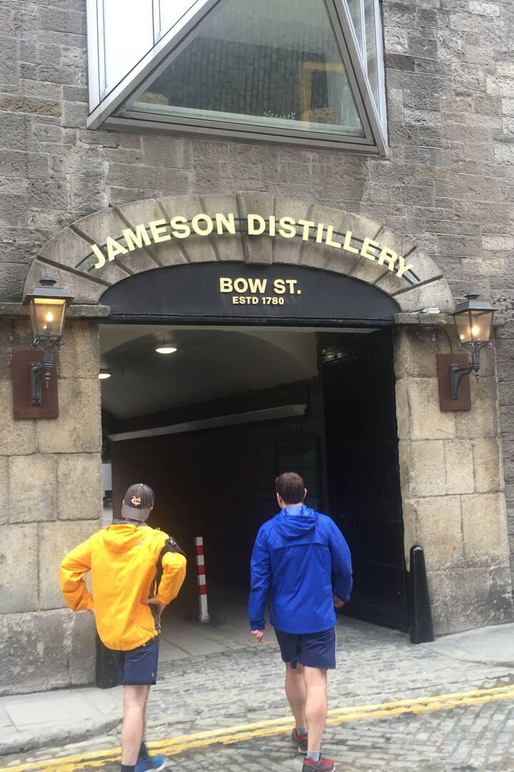 Going through Jameson Distillery