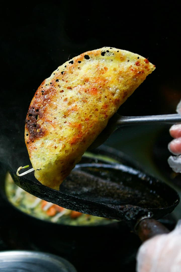 """Banh Xeo "" Vietnamese crispy pancalke"
