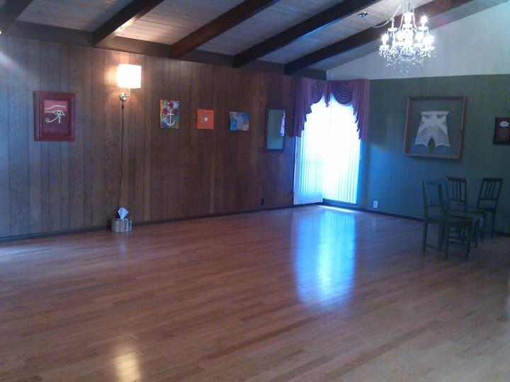 Yoga studio--northeast view
