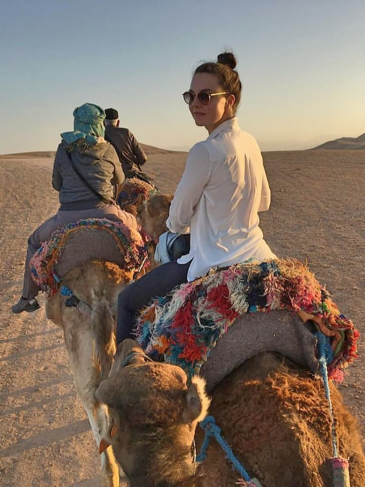 My Clients Riding camels