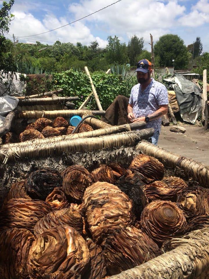 En el fermentado del agave