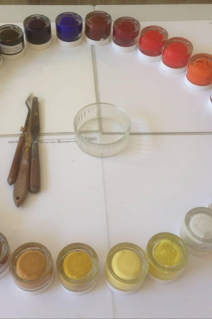 Godets des 28 parfums à disposition