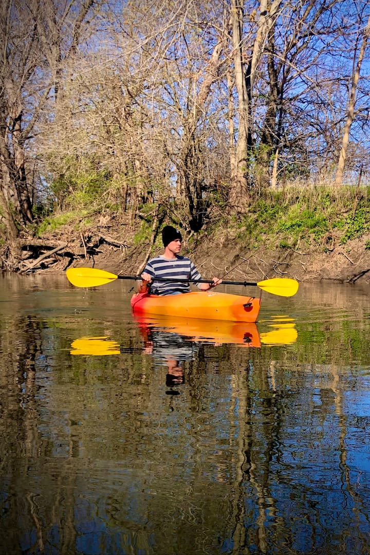 Paddling in the early spring
