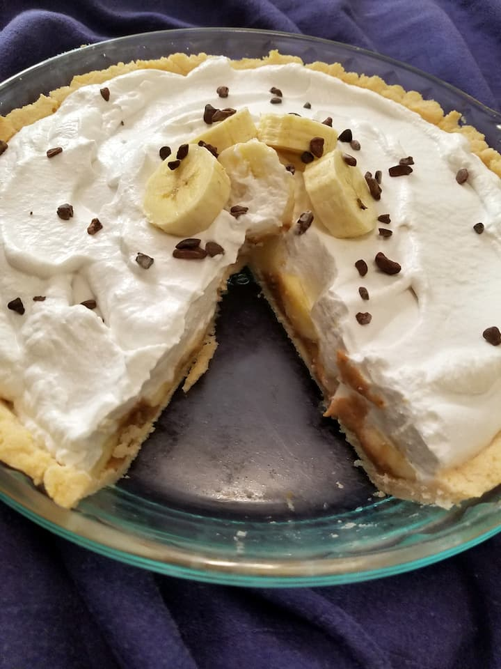 Rich, creamy banoffee pie