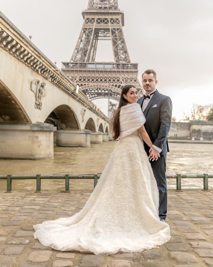 Wedding picture Paris
