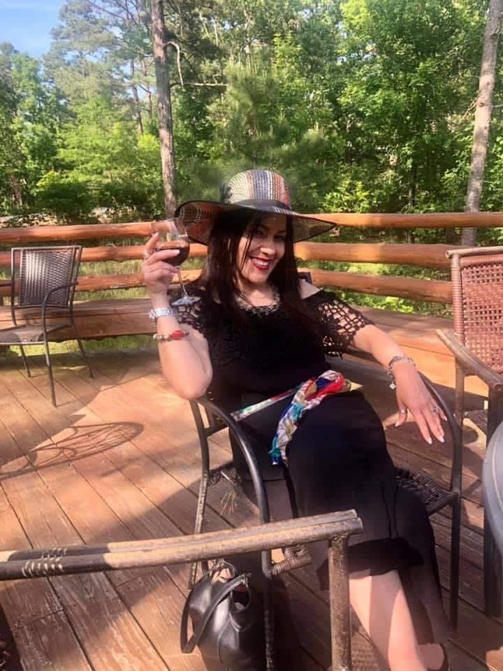 Enjoying 'personal' blend - on yurt deck