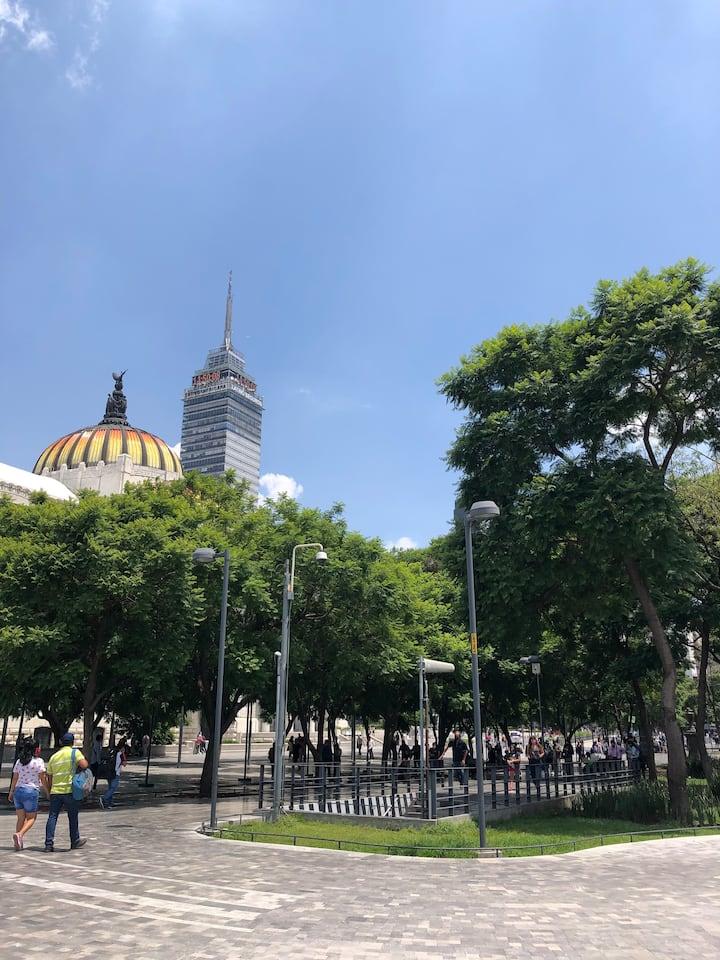 Palacio de Bellas Artes y Torre Latino