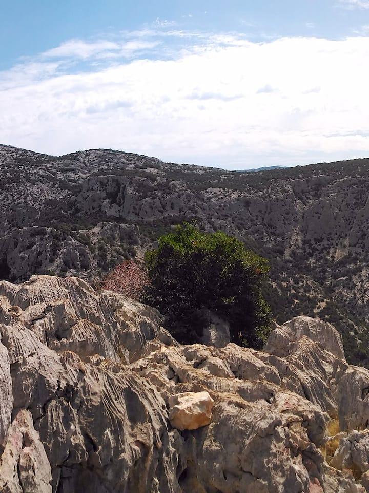 Iscala de Surtana vista da Monte Tiscali