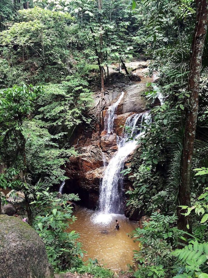 20 feet meters high waterfall