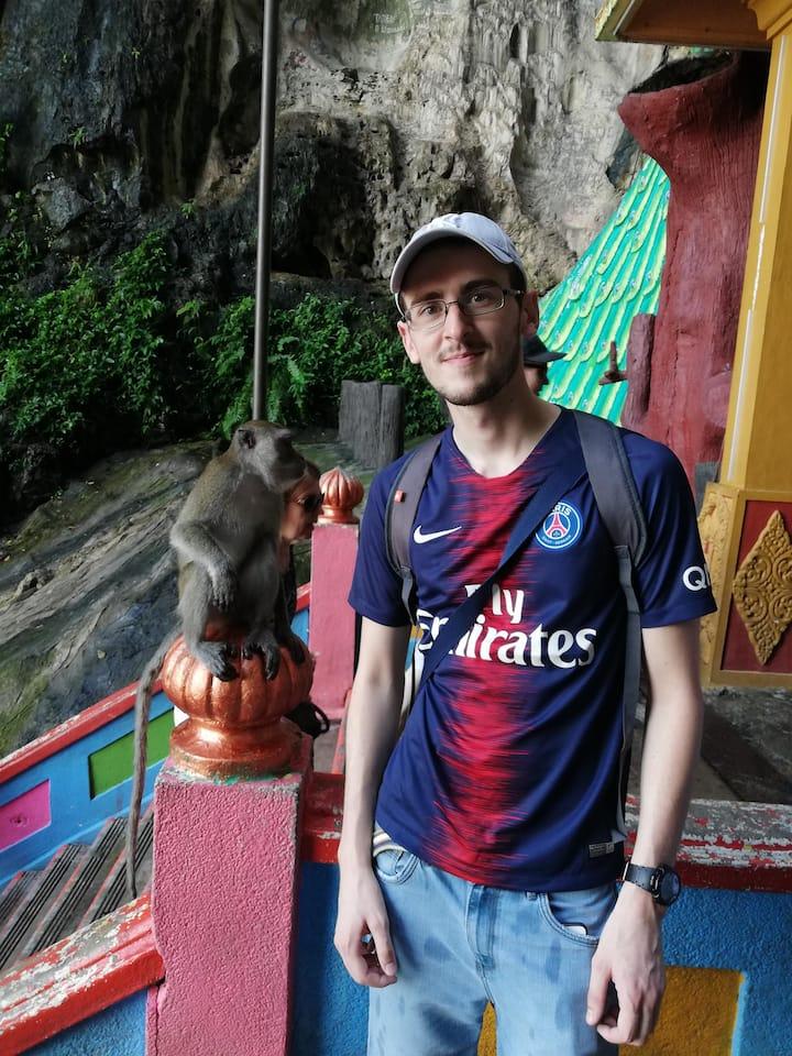 Mr Geroge from France loves monkey