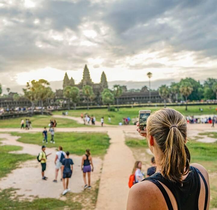 Angkor Wat Temple at morning