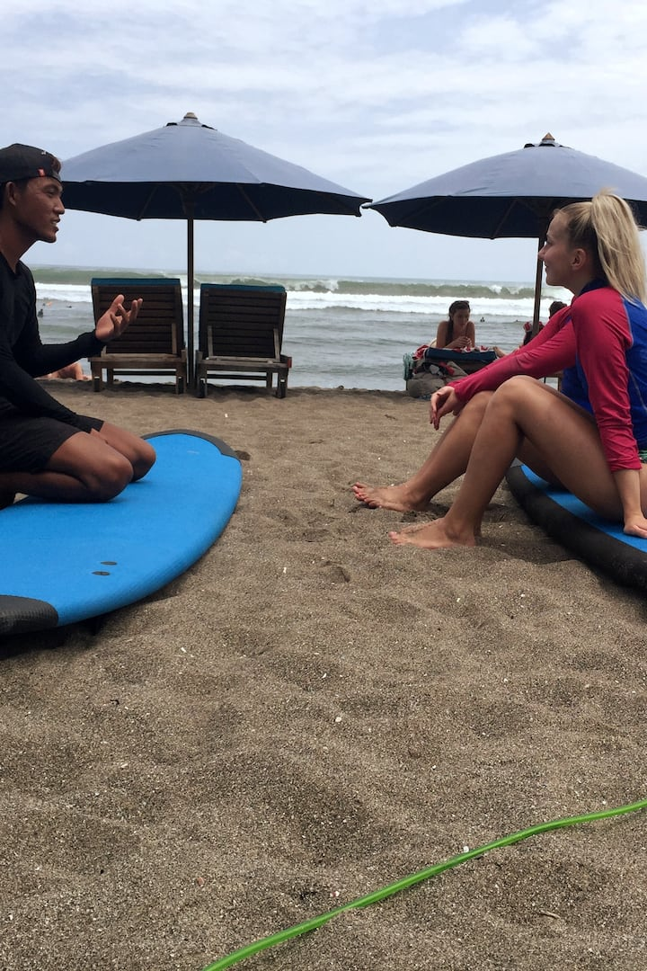 Explain how to surf properly before surf