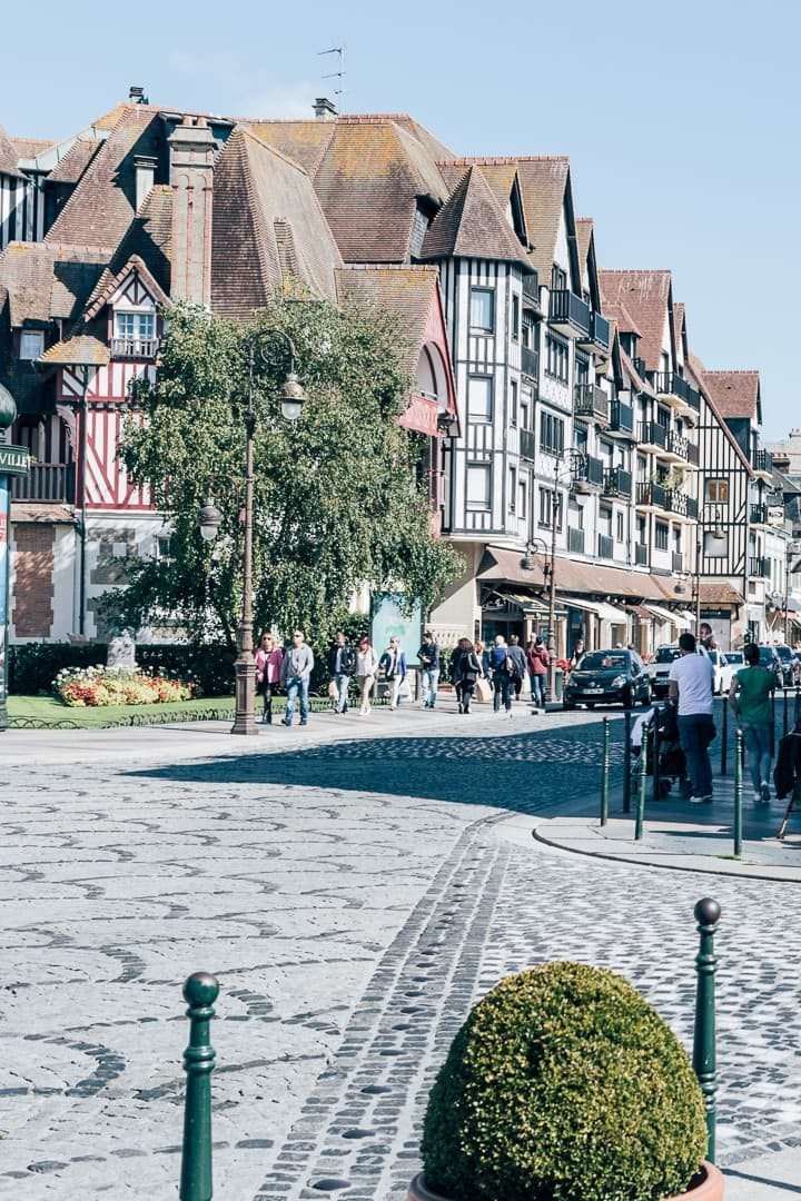 Downtown of Deauville with  shop ...
