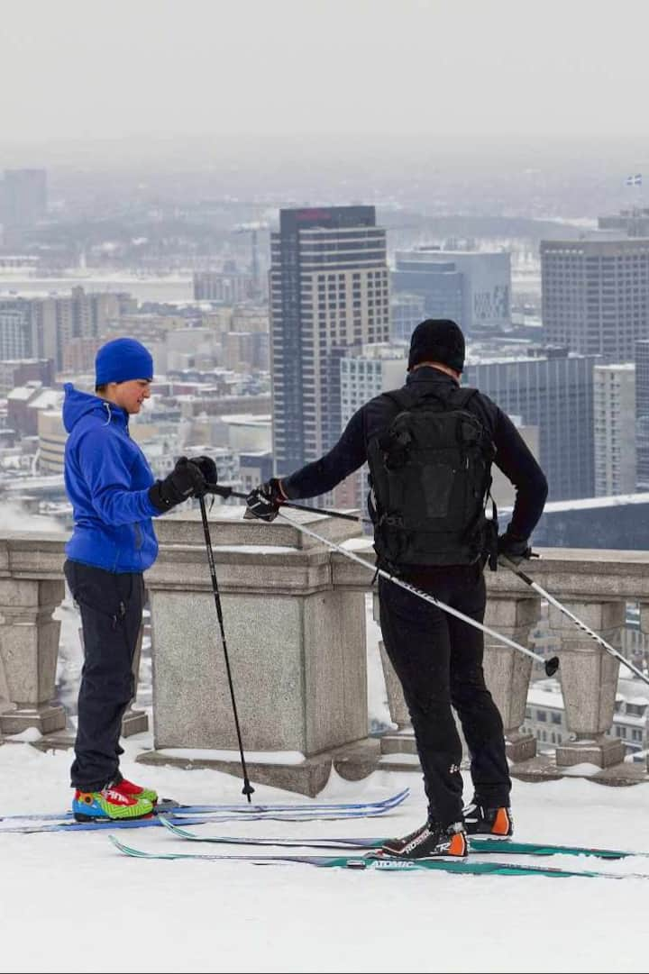 Ski up to the  best view of the city!