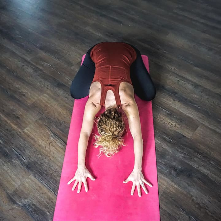 Gentle yoga class in private winery loft