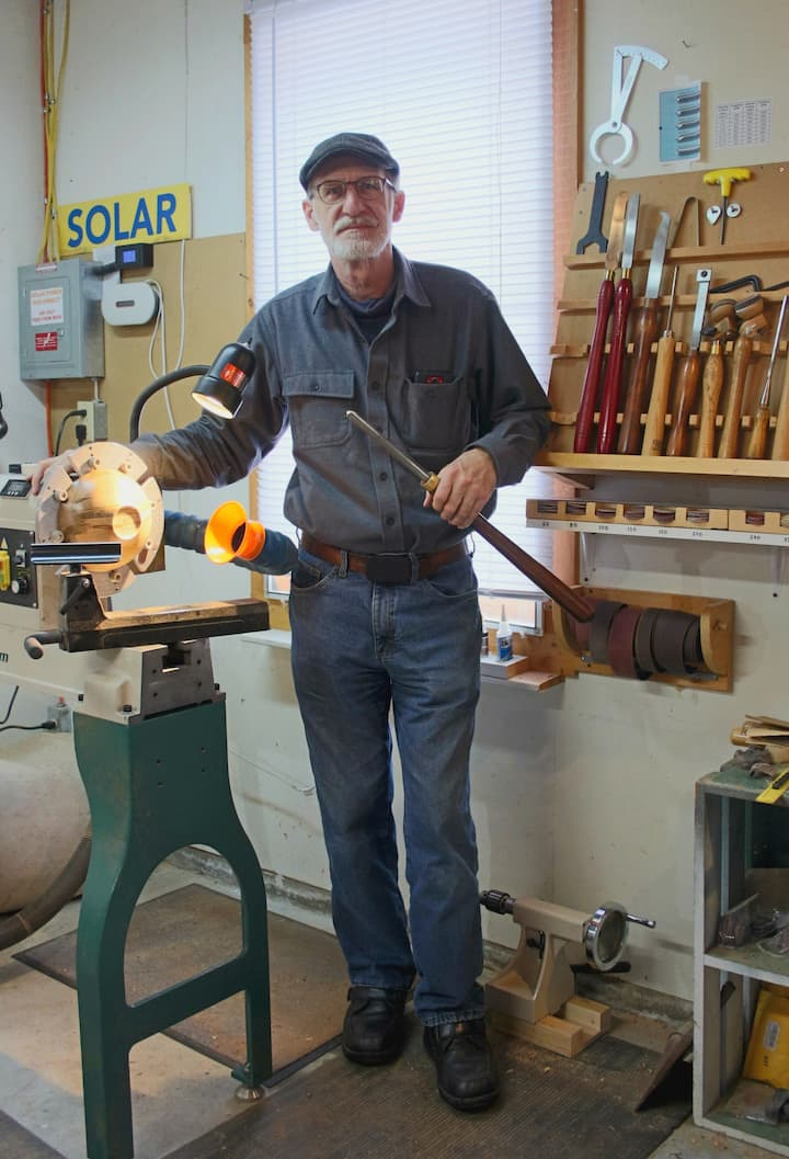 Instructor - Guy with lathe and tools